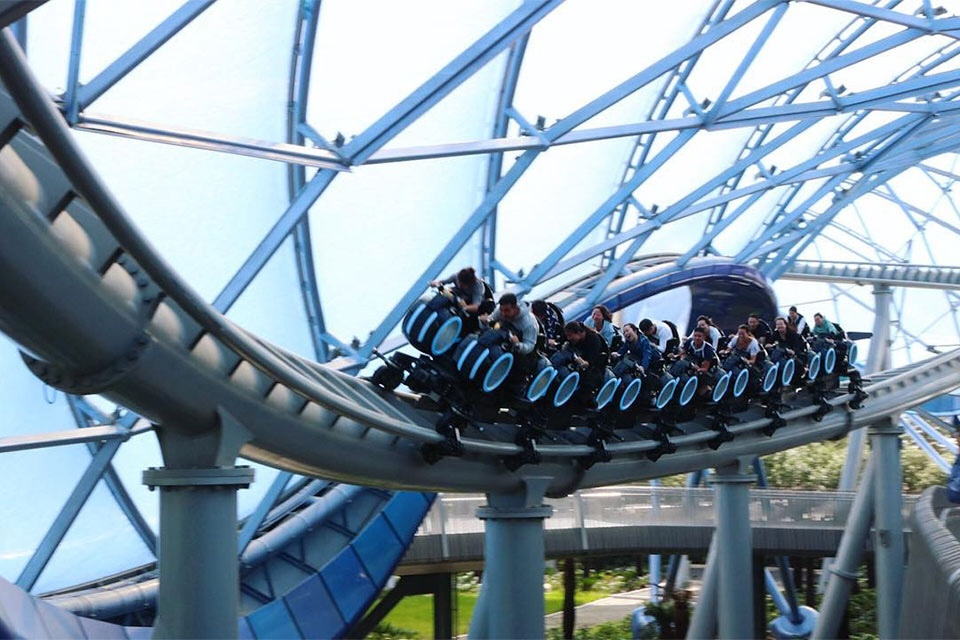 TRON Lightcylcle Power Run Located in Shanghai Disneyland Park