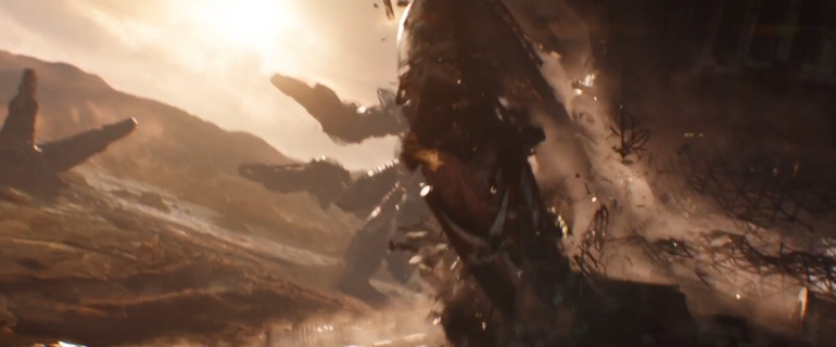q ship landing on titan