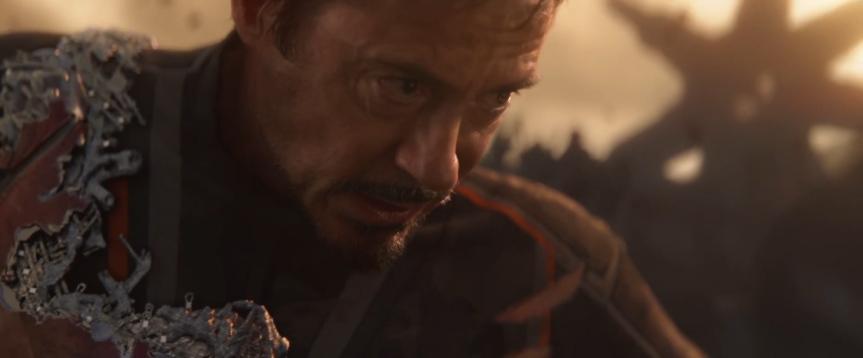 tony iron man suit damaged